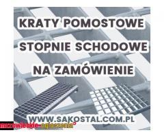 Kraty pomostowe i stopnie schodowe standardowe i na zamówienie